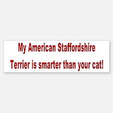 American Staffordshire Terrier Bumper Bumper Bumper Sticker