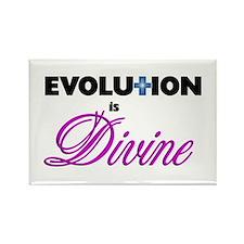 Evolution is Divine Rectangle Magnet