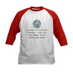 Best Daddy On Earth Kids Baseball Jersey