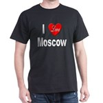 I Love Moscow Russia (Front) Black T-Shirt