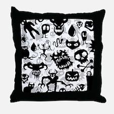 Deathrock Monster Art Throw Pillow