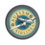 Autism Airlines Wall Clock