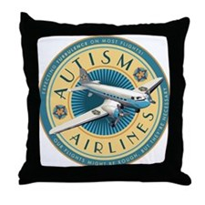 Autism Airlines Throw Pillow