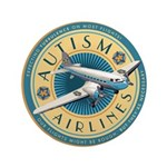 "Autism Airlines 3.5"" Button"