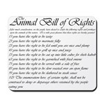 Animal Bill of Rights Mousepad