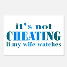 Wife Watches Postcards (Package of 8)