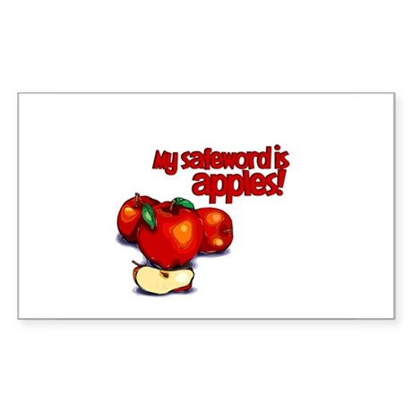 """My Safeword is Apples"" Rectangle Sticker 50 pk)"