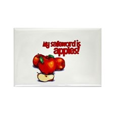 """My Safeword is Apples"" Rectangle Magnet"