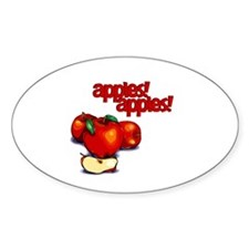 """Apples! Apples!"" Oval Decal"