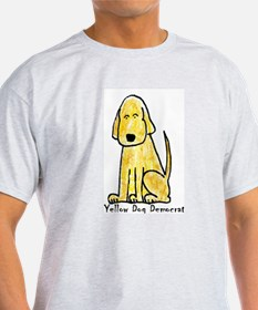 Yellow Dog Democrat (Ash Grey T-Shirt)