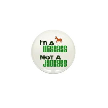 """""""Wiseass, Not Jackass"""" Mini Button (100 pack)"""