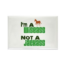 """Wiseass, Not Jackass"" Rectangle Magnet"
