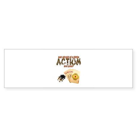 """Afraid of Action"" Bumper Sticker (10 pk)"