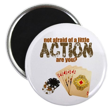 """Afraid of Action"" 2.25"" Magnet (100 pack)"
