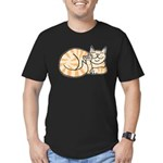OrangeTabby ASL Kitty Men's Fitted T-Shirt (dark)