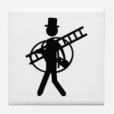 chimney sweeper icon Tile Coaster