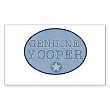 Genuine Yooper Rectangle Decal