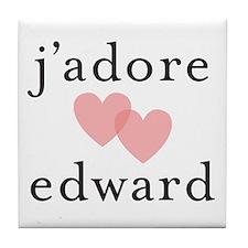 j'dore edward Tile Coaster