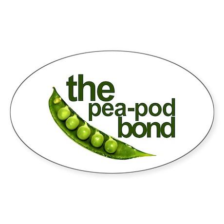"""Pea-Pod Bond"" Oval Sticker (10 pk)"