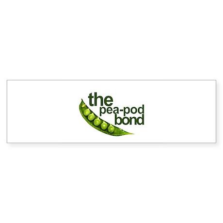 """""""Pea-Pod Bond"""" Bumper Sticker (50 pk)"""