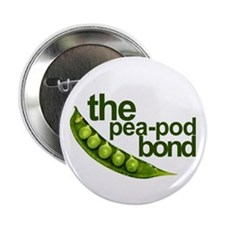 """Pea-Pod Bond"" 2.25"" Button (10 pack)"