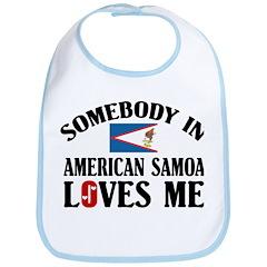 Somebody In American Samoa Bib