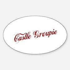 """Castle Groupie"" Oval Decal"