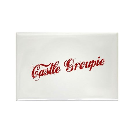 """Castle Groupie"" Rectangle Magnet"