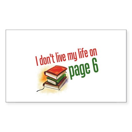 """Page Six"" Rectangle Sticker"