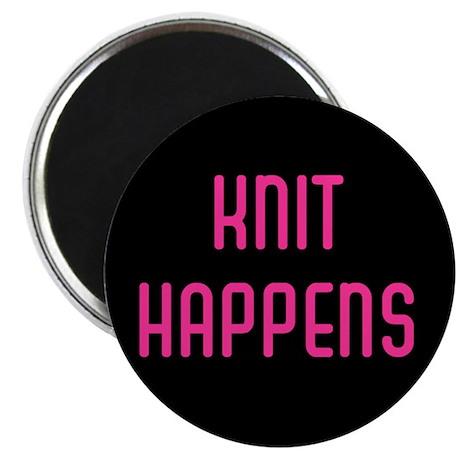 knit happens button Magnets