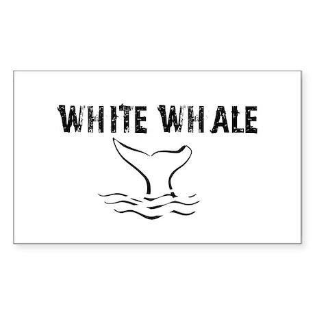 """White Whale"" Rectangle Sticker"