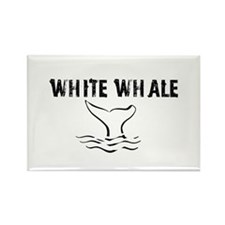 """White Whale"" Rectangle Magnet"