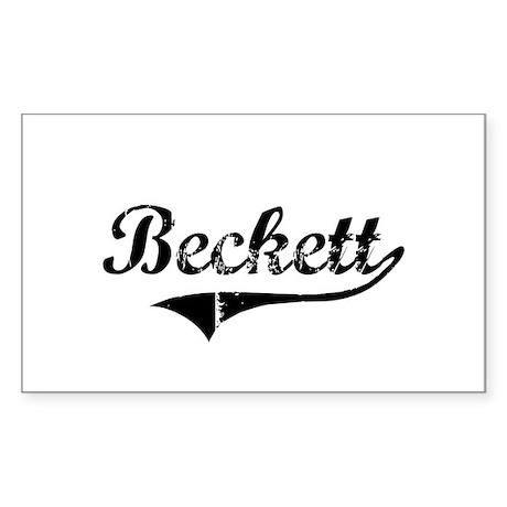 """""""Beckett Team"""" Rectangle Sticker"""