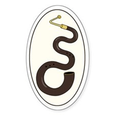 The Serpent Oval Decal