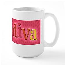 yarn diva bumper sticker Mugs