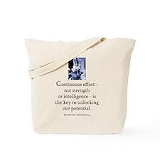 Continuous effort Tote Bag
