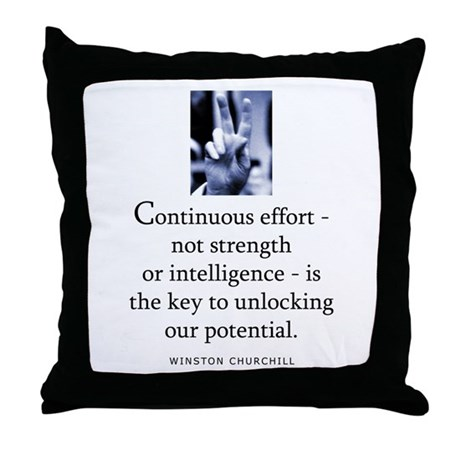 Continuous effort Throw Pillow