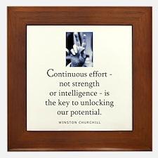 Continuous effort Framed Tile