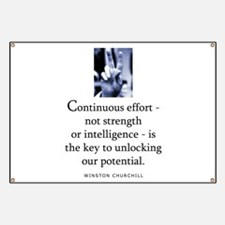 Continuous effort Banner