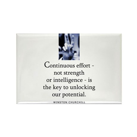 Continuous effort Rectangle Magnet (100 pack)