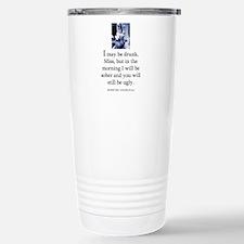 May be drunk Stainless Steel Travel Mug
