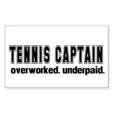 TENNIS CAPTAIN Rectangle Decal