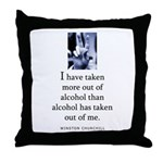Out of alcohol Throw Pillow