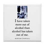 Out of alcohol Tile Coaster