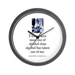 Out of alcohol Wall Clock