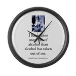 Out of alcohol Large Wall Clock