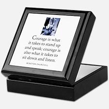 Takes courage Keepsake Box
