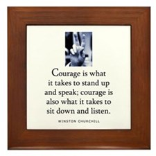 Takes courage Framed Tile