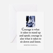 Takes courage Greeting Card
