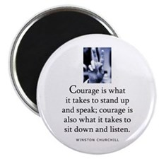 """Takes courage 2.25"""" Magnet (10 pack)"""